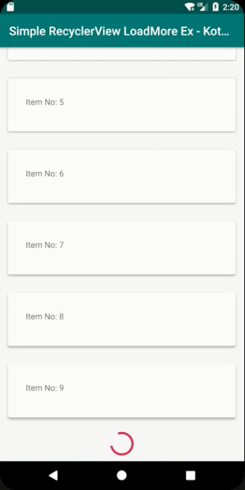 pagination in android recyclerview