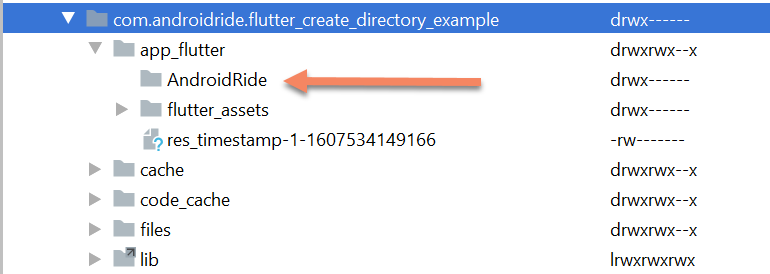 flutter create new directory example - path provider