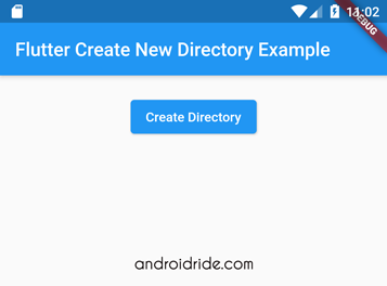 flutter create directory example - path provider