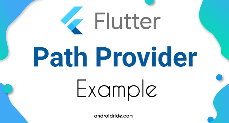 flutter path provider example