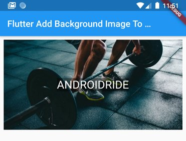 flutter add background image to container
