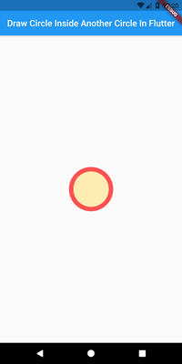 draw circle inside another circle flutter
