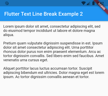 text line break in flutter using triple quotes