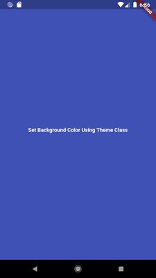 background color using theme